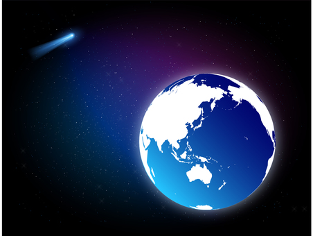 Earth and the comet