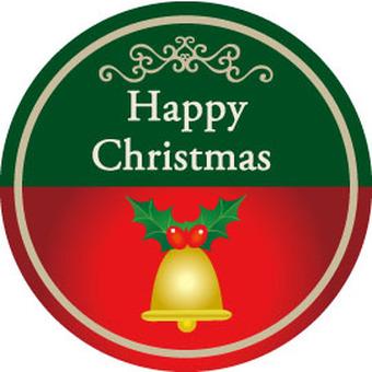 Christmas label round shape