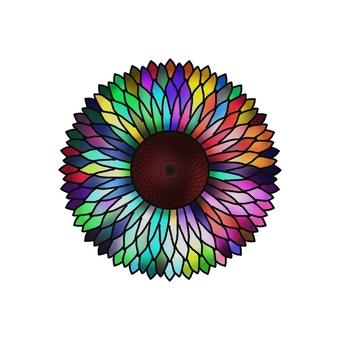 彩虹色的花朵