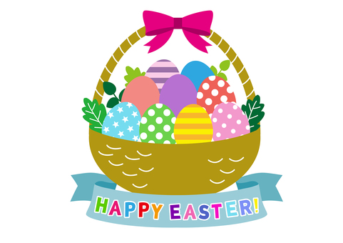 Easter egg with basket