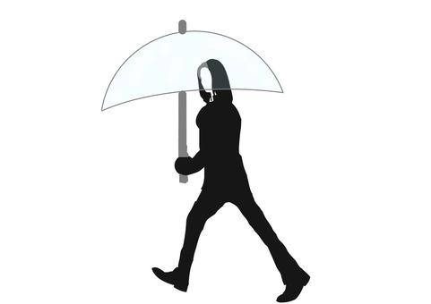 Vinyl umbrella women