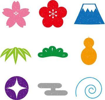 Japanese Pattern Stamp Set