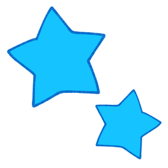 Two stars (blue)