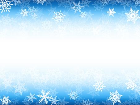 Winter Background · Snowflake Frame Blue