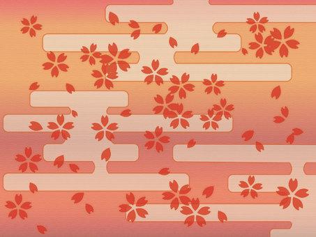 Japanese style cherry pattern background