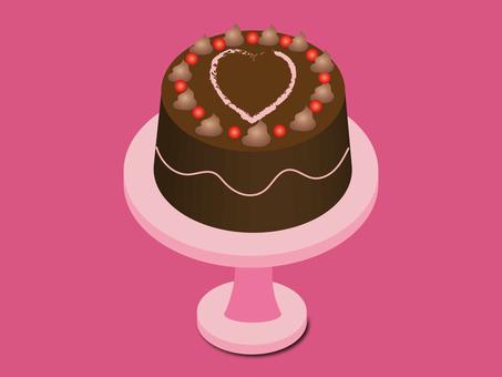 Heart decoration cake
