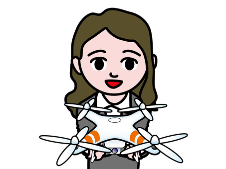 Business female drone