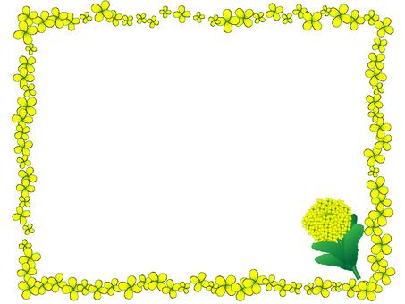 菜の花のフレーム