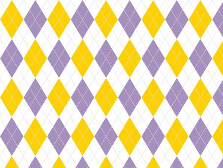 Argyle ● Purple × Yellow