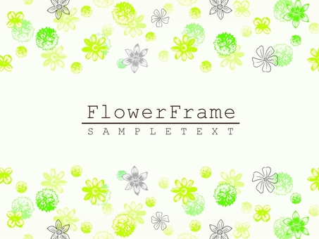 Natural frame material 07 green