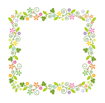 Flower decorative frame