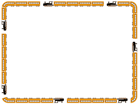 Locomotive decorative frame