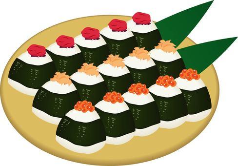 Assorted rice balls
