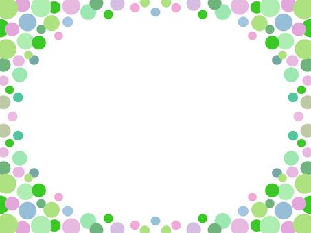 Polka dot frame colorful decorative frame material illustration