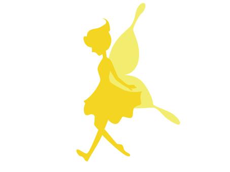 Fairy silhouette (yellow)