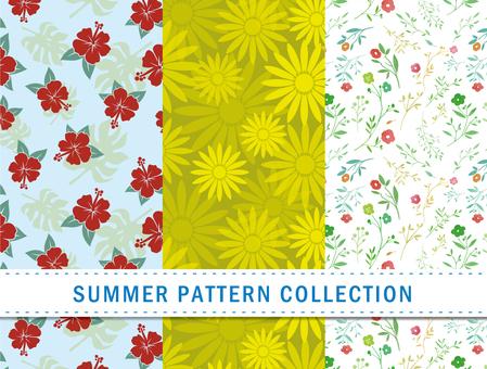 Summer pattern / plant / seamless pattern