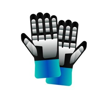 Blue glove (2)