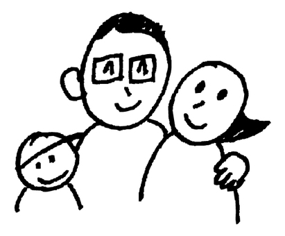 Hand-painted _ Family _ Black