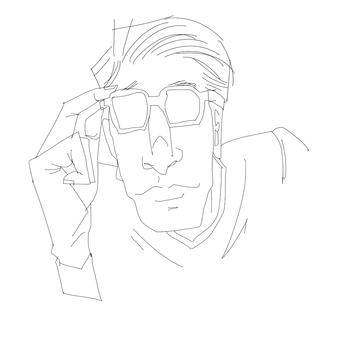 안경을 쓴 남자