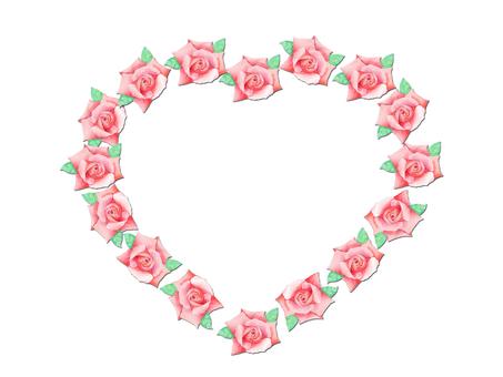 Heart shaped rose ★ 0385 - R