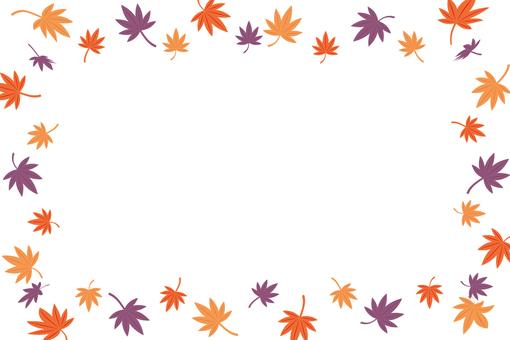 Autumn leaves frame 7
