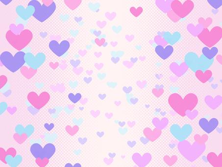 背景-ハートグラデーション(ピンク