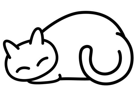 Nap sleepy cat white