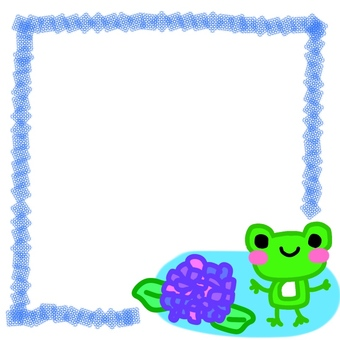 A hydrangea and a frog frame