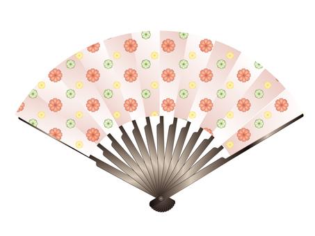 Floral folding fan