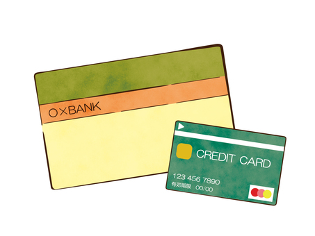 Passbook and credit card