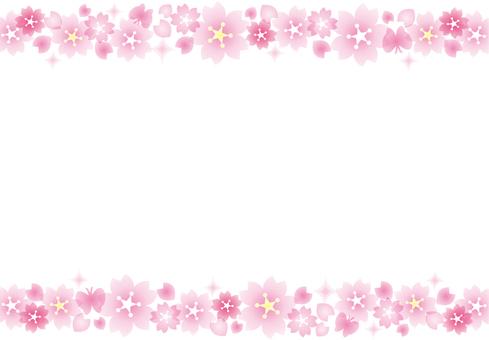 Sakura glittering frame line 1