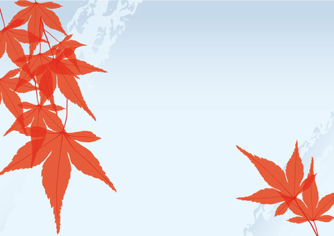 Autumn leaves blue