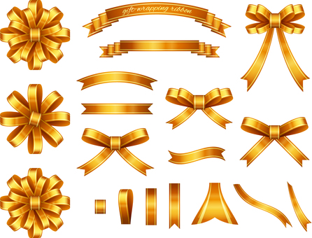 Ribbon set for gold wrapping