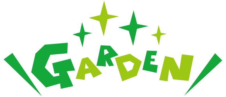 GARDEN ☆ Garden ☆ Garden English logo