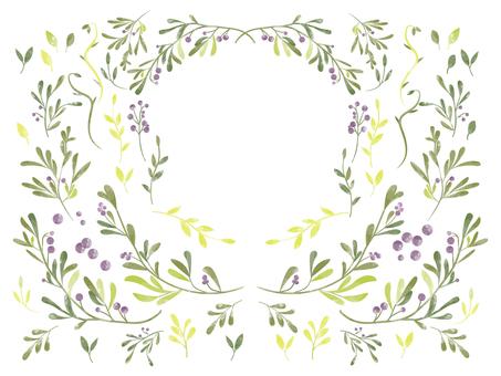 Plant decoration purple