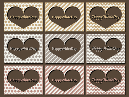 White Day Photo Frame Gold Silver Lame Character