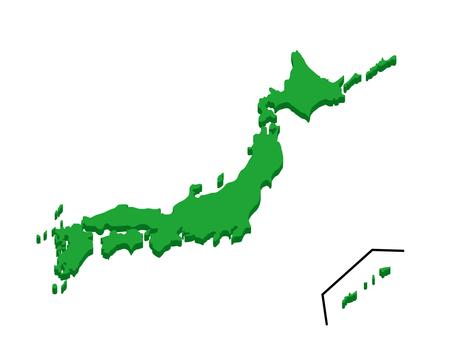 Japan Map 17 3D