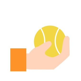 Hands - hand with tennis ball