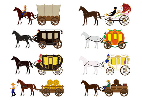 Horse carriage (carriage set / person version included)