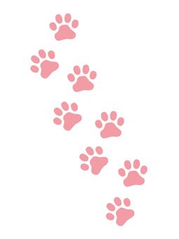 Paw footprint pink vertical