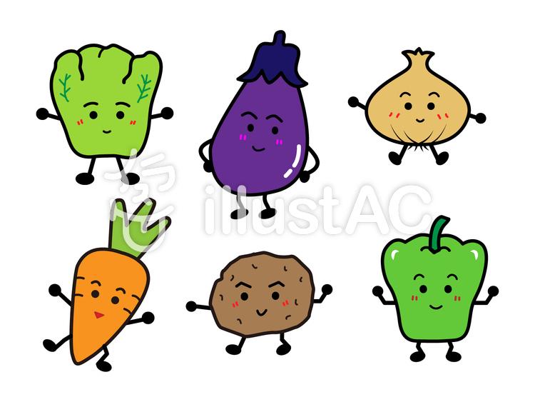 かわいい野菜イラストセットイラスト No 802358無料イラストなら