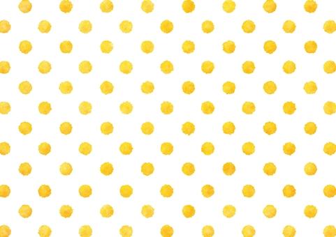 Watercolor dots dot texture Yellow