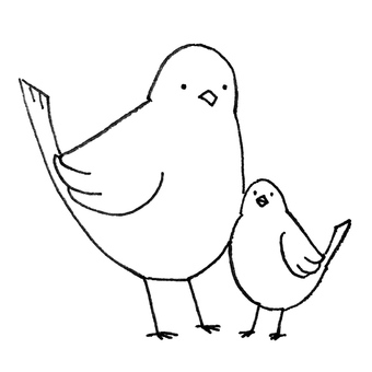 Family parents of birds ②