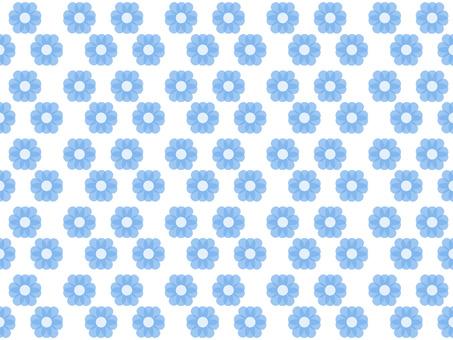 Flower pattern blue