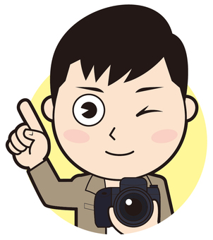Pointing Male Photographer (Wink)