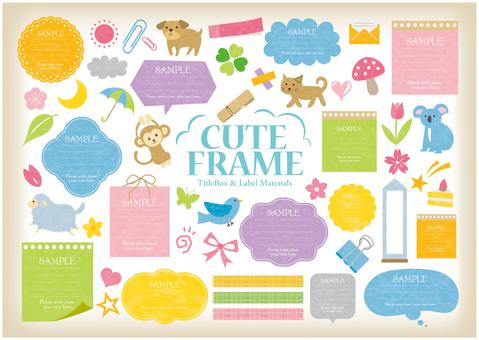 Cute frame SET
