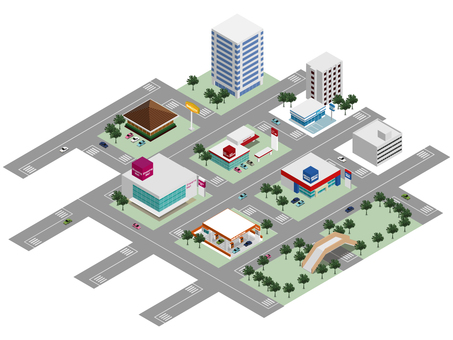 상업 시설의 거리 풍경