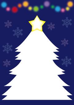 Christmas tree card A