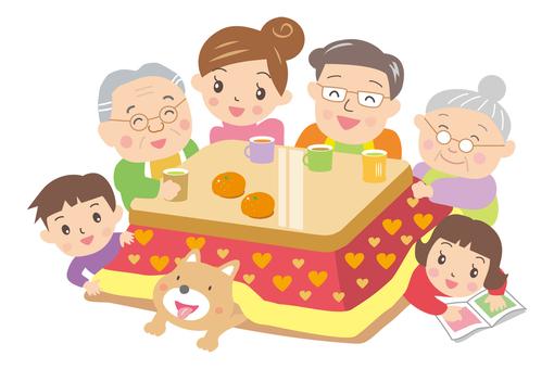 Family to gather at the kotatsu