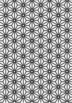Hemp leaf pattern, geometric pattern, traditional pattern